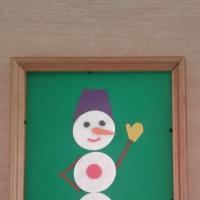 Мақта маталарынан «Керемет снеговик»