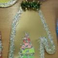 Мастер-класс по изготовлению новогодней открытки «Рукавичка» для сотрудников детского сада