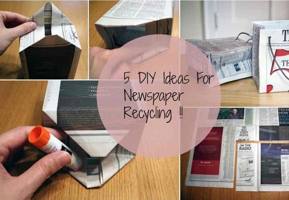 5 DIY Ideas For Newspaper Recycling!