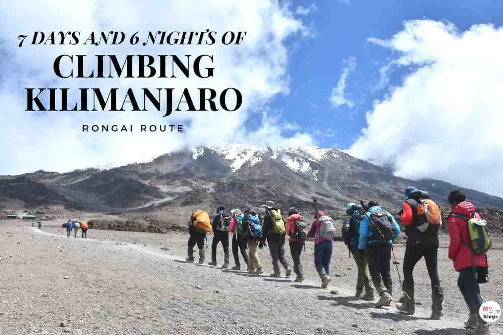 7 Days And 6 Nights Of Climbing Kilimanjaro- Rongai Route
