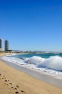 Sunny beach in October