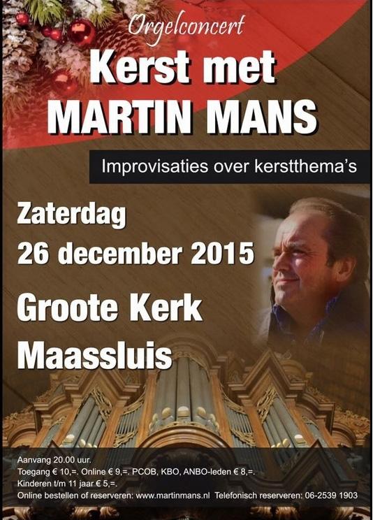 Kerst Martin Mans poster