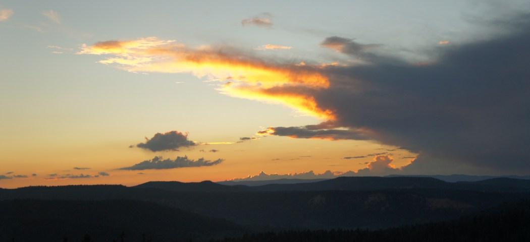 Bryce canyon utah sunset