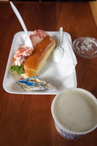 Lobsta Roll and Clam Chowda
