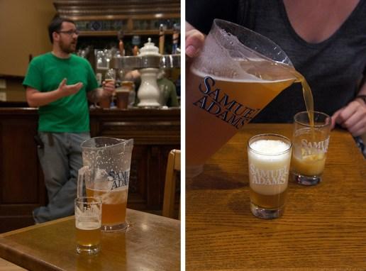 La brasserie Sam Adams Boston dégustation de bières