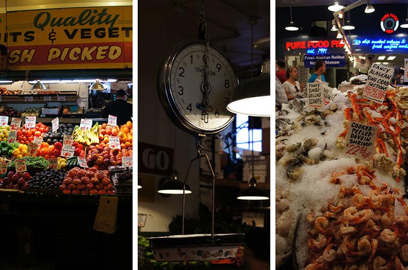 Le marché de Seattle - stands