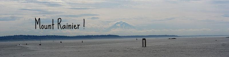 Le Mount Rainier depuis Seattle
