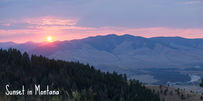 Sunset in Montana, Bisons Range