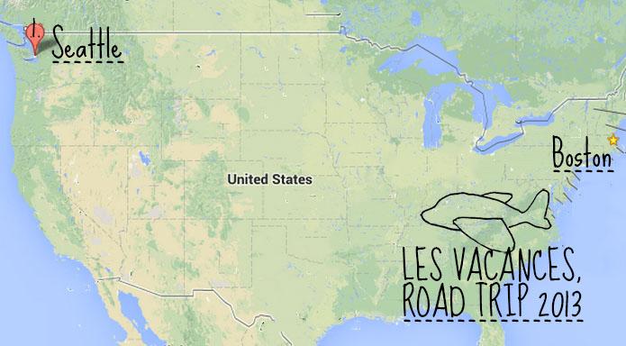 Road trip 2013 Nord Ouest des Etats-Unis - carte