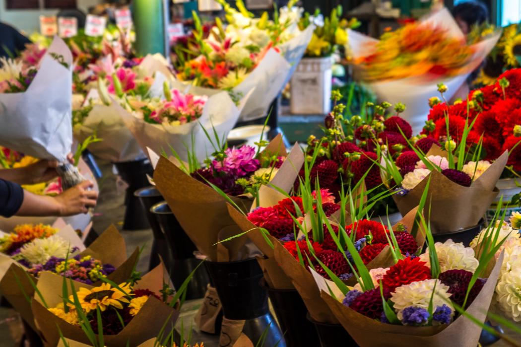 Pike Place Market Seattle fleurs