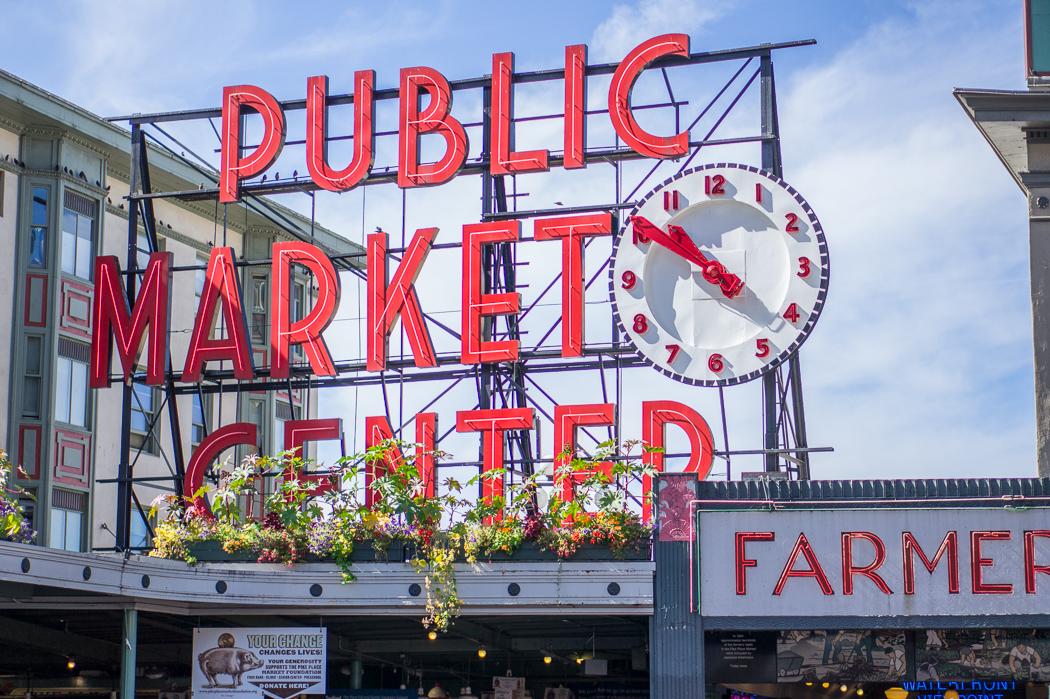 Pike Place Market Seattle panneau