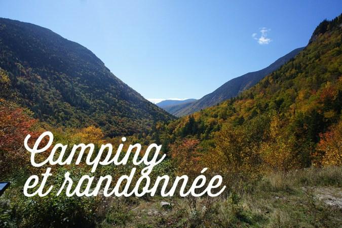 Camping et randonnée dans les white mountains