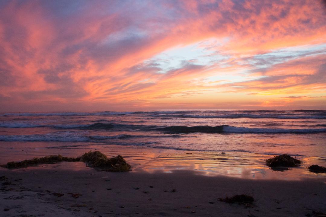 Coucher de soleil Pacifique San Diego