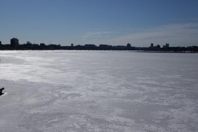 Charles River Boston frozen