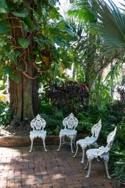 Audubon House - Key West - Floride - chaises de jardin