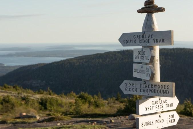 Cadillac Mountain - West Side - Acadia National Park - panneaux
