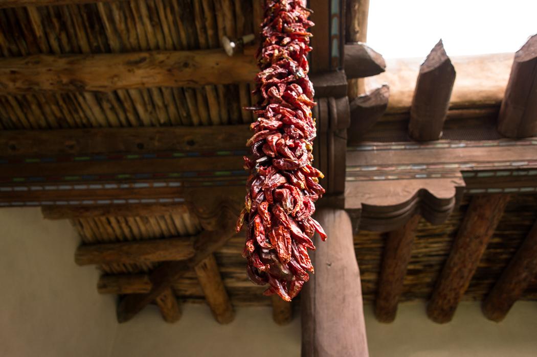 Du chili - du piment qui pend à Santa Fe - Nouveau Mexique