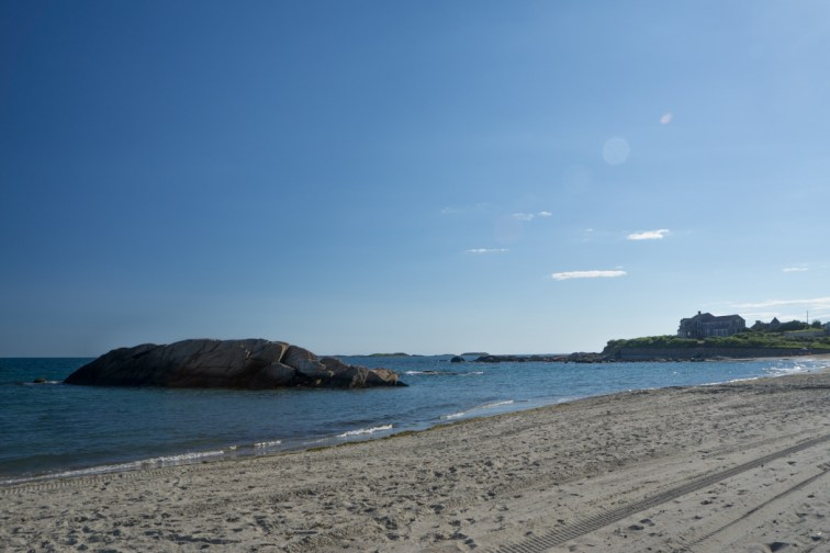Jolie plage de Little Compton, Rhode Island