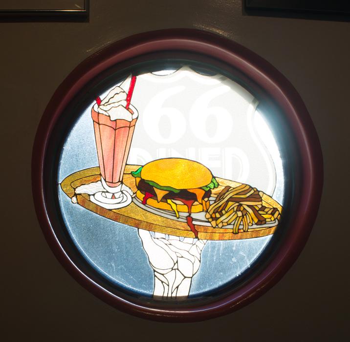 Diner 66 Route 66 Albuquerque Nouveau Mexique vitrail burger