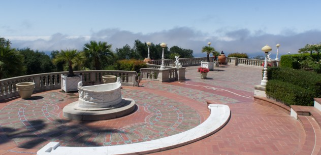 Place et fontaine Hearst Castle Californie