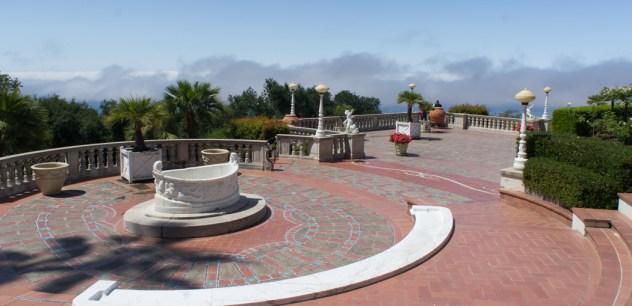 Place et fontaine Hearst Castle Californie
