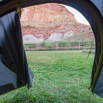 se reveiller au camping a capitol reef