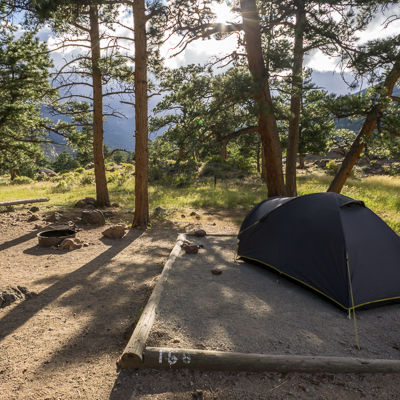 road trip sud ouest américain camping Moraine Rocky Mountain National Park Colorado