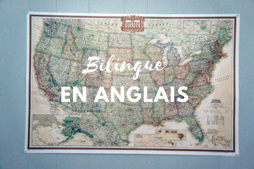 Bilingue en anglais