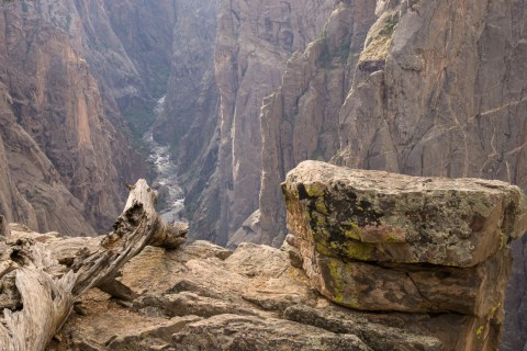 Black Canyon of the Gunnison - National Park - Colorado - road trip Etats-Unis - au bord du précipice