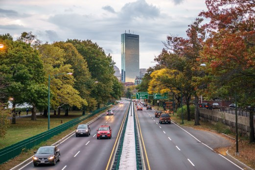 Fall Boston Esplanade Hancock Tower