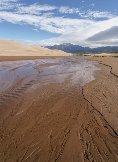 Great Sand Dunes Colorado - la crique