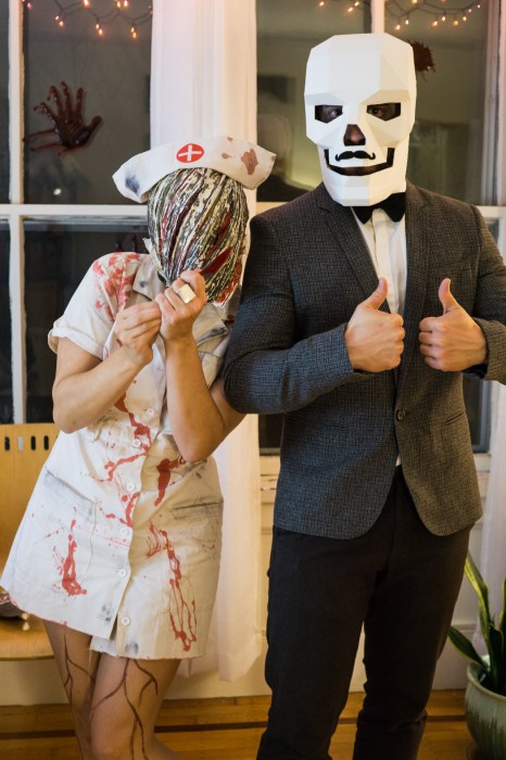 Halloween costume Mathilde et Manu