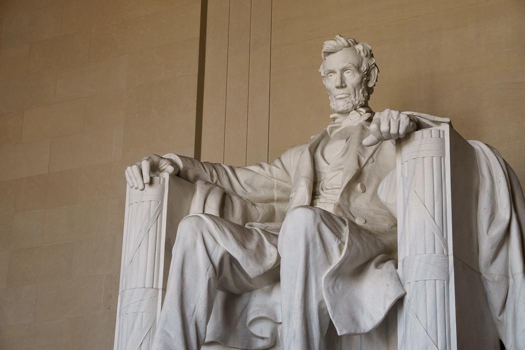 washington dc statue géante de Lincoln