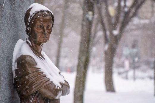 boston blizzard sculpture Commonwealth Avenue