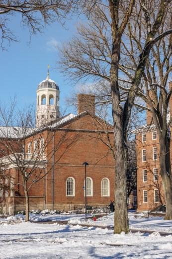 Harvard Art Museum - Harvard Yard et la neige