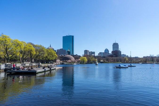 Boston vue de Back Bay depuis l'Esplanade
