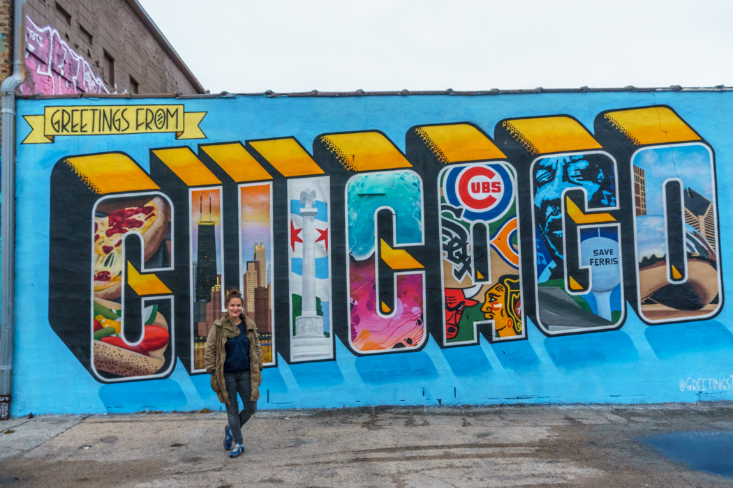 Visiter Chicago - fresque de la ville