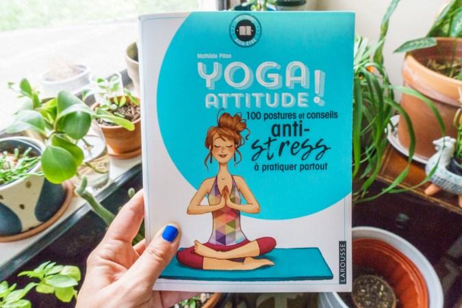 Yoga Attitude un carnet de yoga chez Larousse par Mathilde Piton
