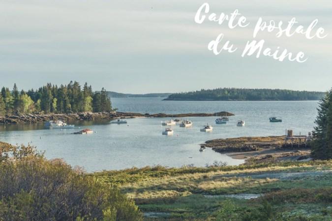 Carte postale Maine Nouvelle Angleterre