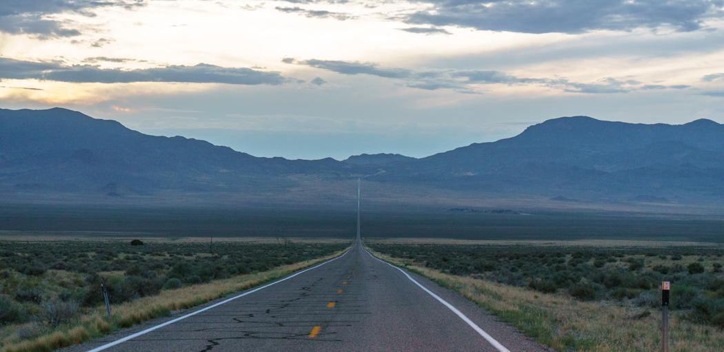 Sur la route de Great Basin Nevada