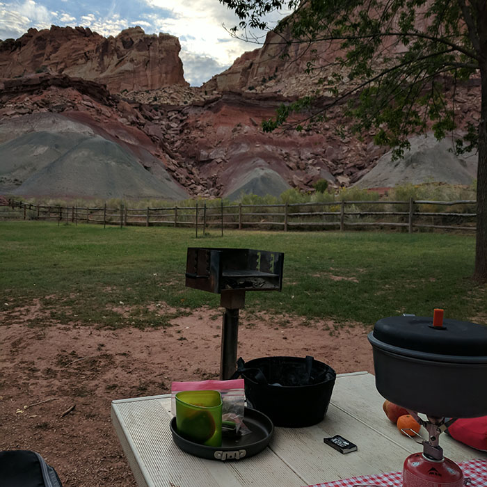 Camping Capitol Reef 2