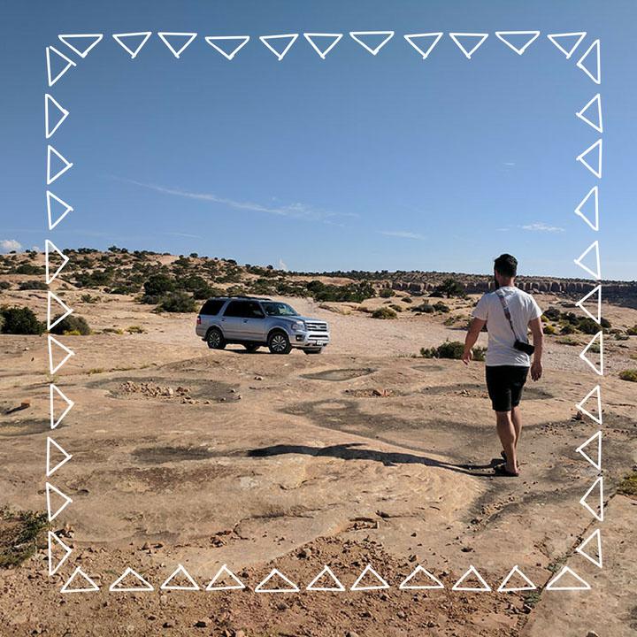 Manu voiture road trip