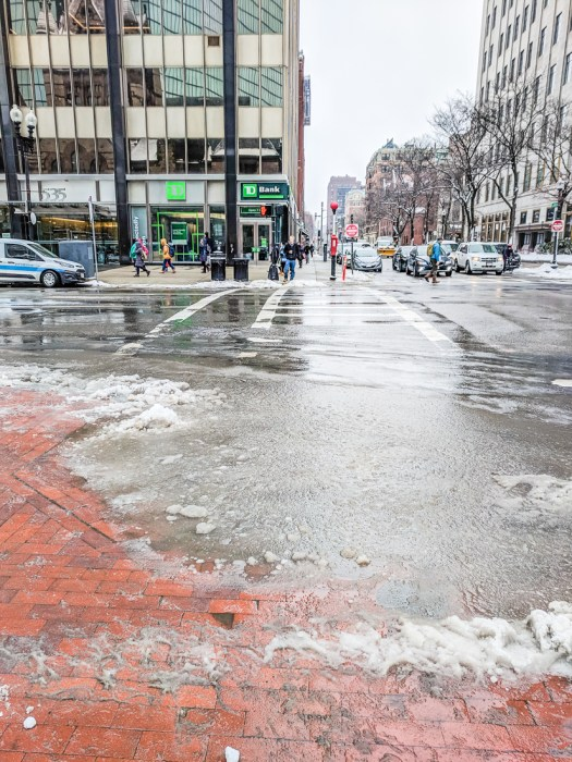 La neige en hiver a boston 1