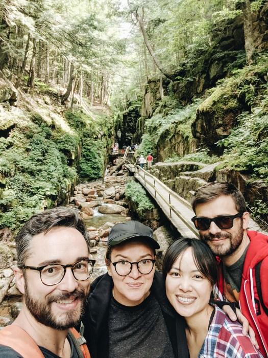 Selfie d'amis - Flume Gorge