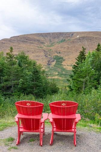 Red adirondacks chairs newfoundland terre neuve 1