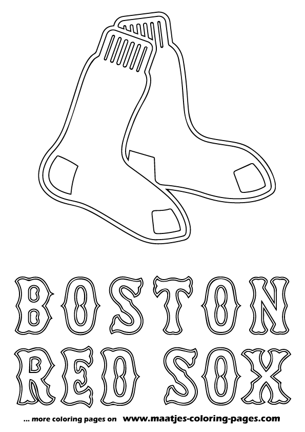 red sox coloring pages search more mlb coloring book pages