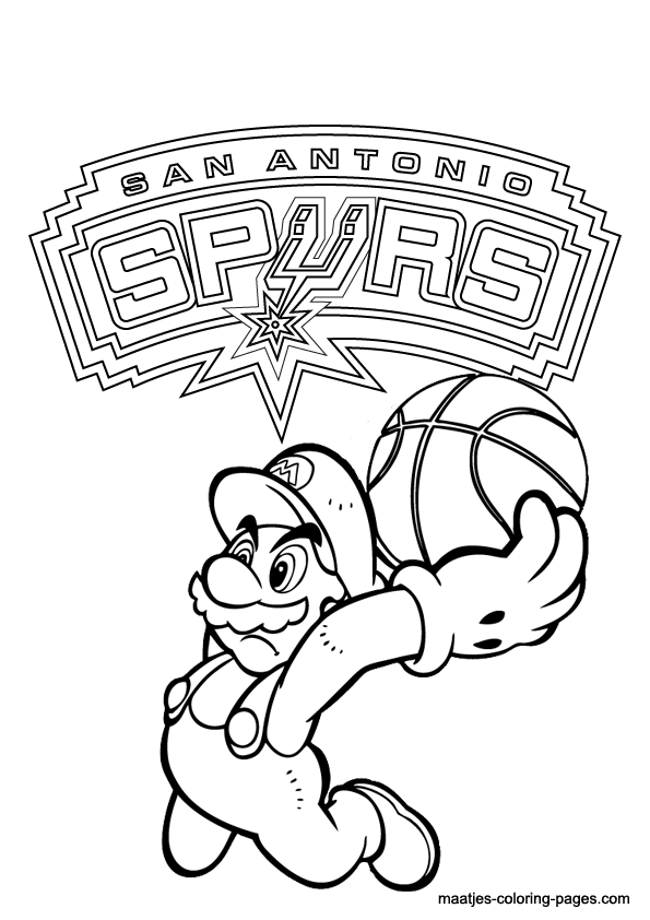 pin nba printable coloring pages on pinterest
