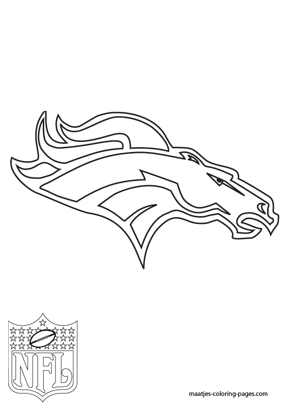 Broncos Football Coloring Pictures