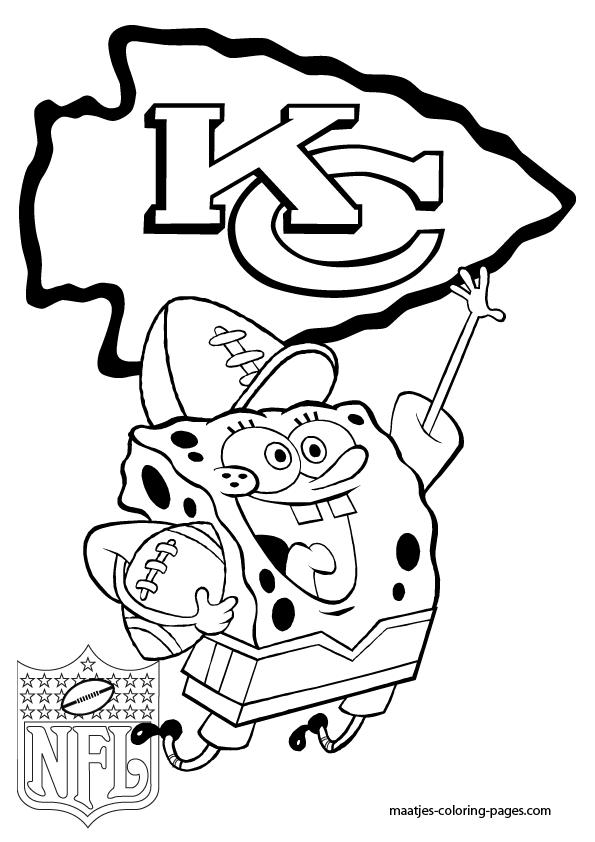 kansas city chiefs  spongebob  coloring pages