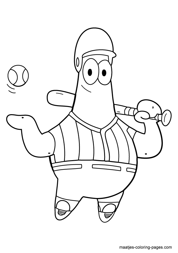 Online Coloring Tool - Coloring Pages Patrick Star Transparent PNG ... | 842x595
